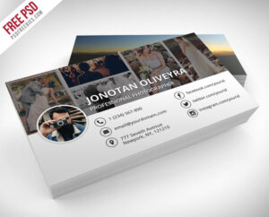 55+ Best Free Modern Business Card Psd Templates for Photography Business Card Template Photoshop