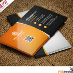 55+ Best Free Modern Business Card Psd Templates Within Calling Card Psd Template