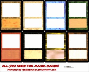 6 Blank Magic Card Template – Sampletemplatess regarding Blank Magic Card Template