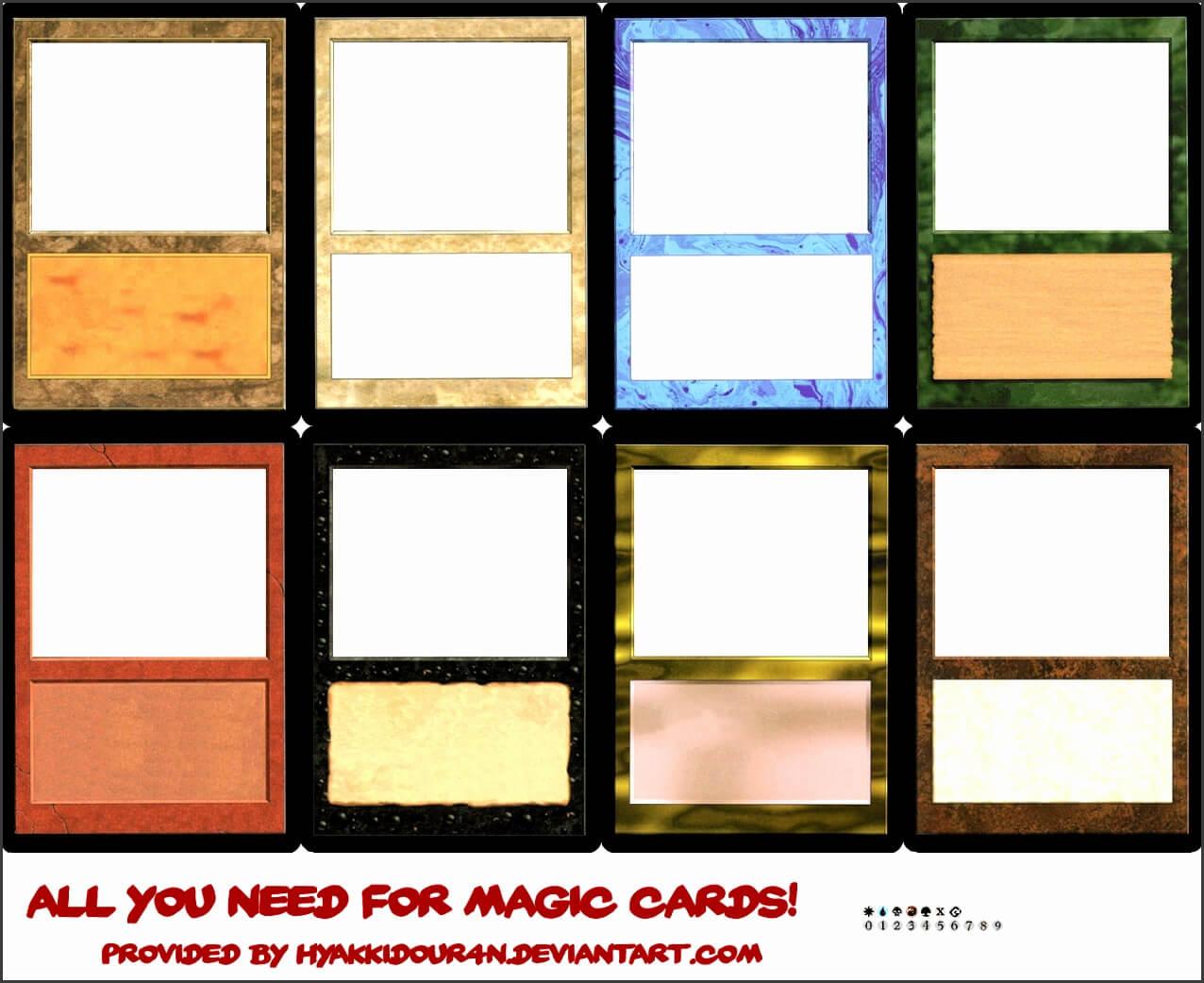 6 Blank Magic Card Template - Sampletemplatess Regarding Blank Magic Card Template
