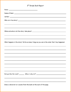 6+ Book Report Template 2Nd Grade | Types Of Letter for 2Nd Grade Book Report Template