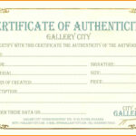 6+ Certificate Of Authenticity Templates | Weekly Template For Workstation Authentication Certificate Template