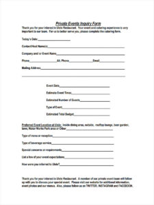 6+ Event Inquiry Form Samples – Free Sample, Example Format throughout Enquiry Form Template Word