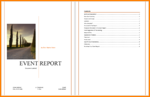 6+ Event Reporting Template | Business Opportunity Program within After Event Report Template
