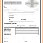 6+ Fake Medical Certificate | Lbl Home Defense Products Inside Free Fake Medical Certificate Template