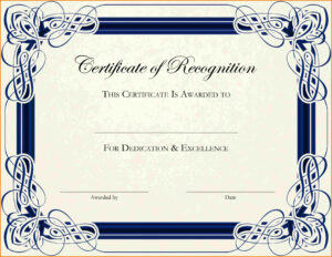 6+ Free Printable Certificate Border Templates | Sample Of with Certificate Border Design Templates