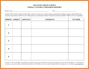 6+ Student Progress Report Templates | Phoenix Officeaz Inside High School Progress Report Template