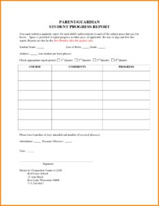 6+ Students Progress Report Template | Phoenix Officeaz for Educational Progress Report Template