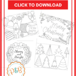 6 Unique Christmas Cards To Color Free Printable Download Inside Printable Holiday Card Templates