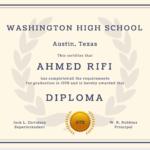 60+ Free High School Diploma Template – Printable Certificates!! With Free School Certificate Templates