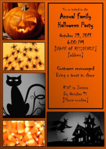 60 Halloween Printable Party Invitations, Halloween in Free Halloween Templates For Word