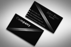 60+ Only The Best Free Business Cards 2015 | Free Psd Templates with Black And White Business Cards Templates Free