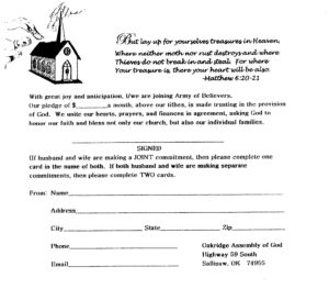 7 Best Photos Of Church Building Fund Pledge Form Template In Building Fund Pledge Card Template