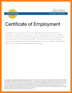 7 Certificate Employment Sample Format Cashier Resumes – The Pertaining To Sample Certificate Employment Template