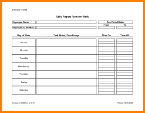 7+ Daily Activity Report Template Word | Lobo Development regarding Monthly Activity Report Template