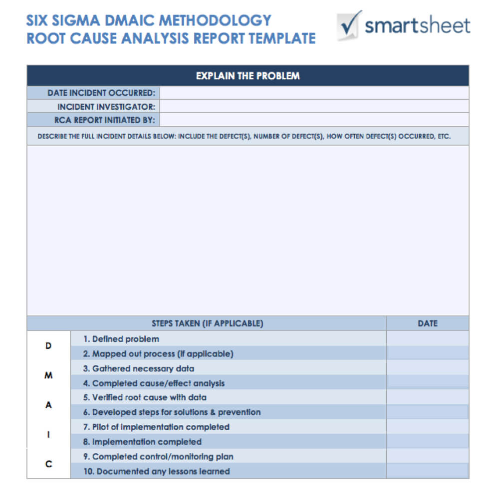 7 Free Root Cause Analysis Templates (And How To Use Them) Intended For Root Cause Report Template