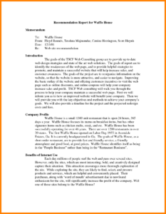 7+ Recommendation Report Example | Letter Adress regarding Recommendation Report Template