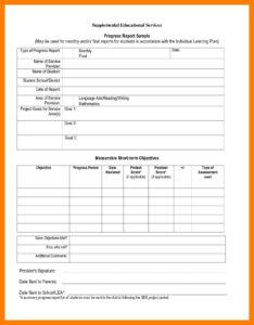 7+ Student Progress Report Sample | Phoenix Officeaz for Student Progress Report Template