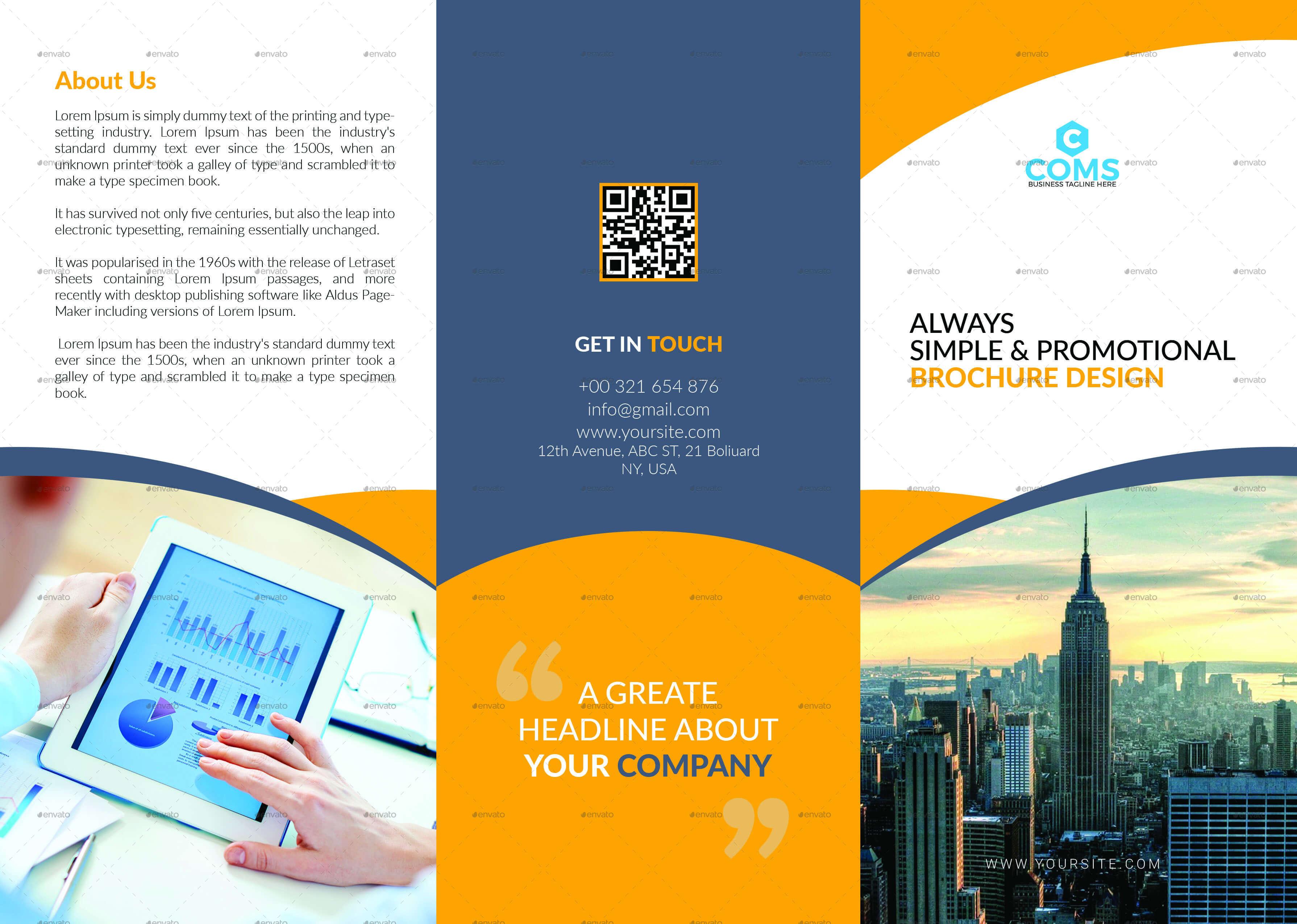 76+ Premium & Free Business Brochure Templates Psd To Throughout Single Page Brochure Templates Psd