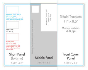 "8.5"" X 11"" Tri Fold Brochure Template – U.s. Press within Three Panel Brochure Template"