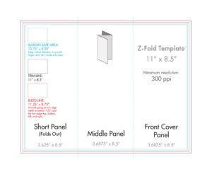 "8.5"" X 11"" Z Fold Brochure Template – U.s. Press regarding 8.5 X11 Brochure Template"