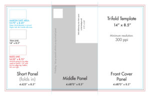 "8.5"" X 14"" Tri Fold Brochure Template – U.s. Press pertaining to Three Panel Brochure Template"