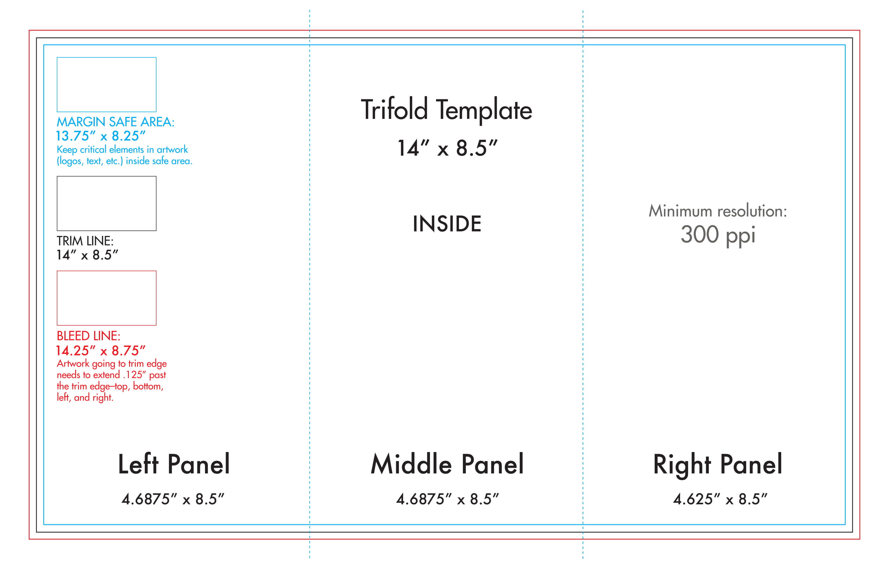 "8.5"" X 14"" Tri Fold Brochure Template - U.s. Press Regarding Three Panel Brochure Template"
