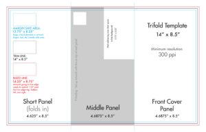"8.5"" X 14"" Tri Fold Brochure Template – U.s. Press with Brochure 4 Fold Template"