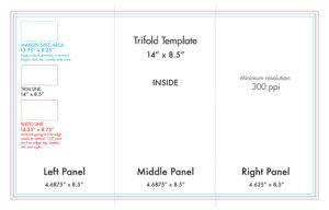 "8.5"" X 14"" Tri Fold Brochure Template – U.s. Press within 4 Panel Brochure Template"
