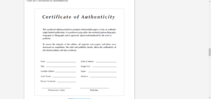 8 Certificate Of Authenticity Templates – Free Samples for Certificate Of Authenticity Photography Template