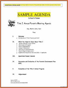 8+ Free Business Meeting Agenda Template Word | Andrew Gunsberg in Event Agenda Template Word