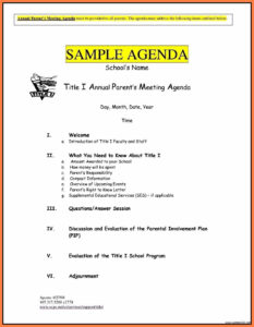 8+ Free Business Meeting Agenda Template Word | Andrew Gunsberg within Free Meeting Agenda Templates For Word