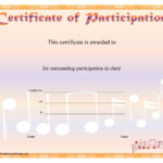 8+ Free Choir Certificate Of Participation Templates - Pdf for Certificate Of Participation Template Pdf