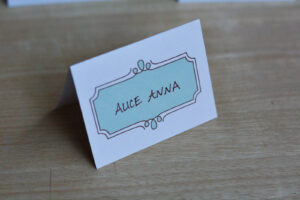 8 Free Wedding Place Card Templates within Table Reservation Card Template