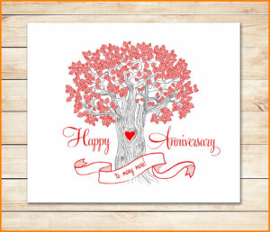 8+ Happy Anniversary Templates Free | Plastic-Mouldings regarding Template For Anniversary Card