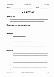 8 High School Lab Report – Locksmithcovington Template regarding Lab Report Template Middle School