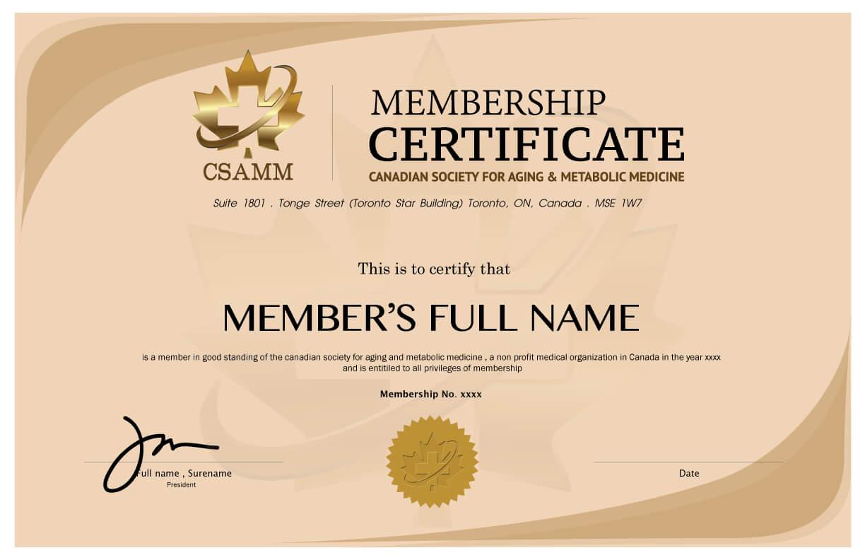 8+ Medical Membership Certificate Templates – Pdf | Free In New Member Certificate Template