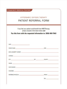 8 Medical Referral Form Samples – Free Sample, Example for Referral Certificate Template