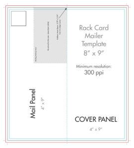 "8"" X 9"" Rack Brochure Template (Half Fold) – U.s. Press throughout Half Fold Card Template"