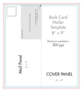 "8"" X 9"" Rack Brochure Template (Half Fold) – U.s. Press within Fold Out Card Template"