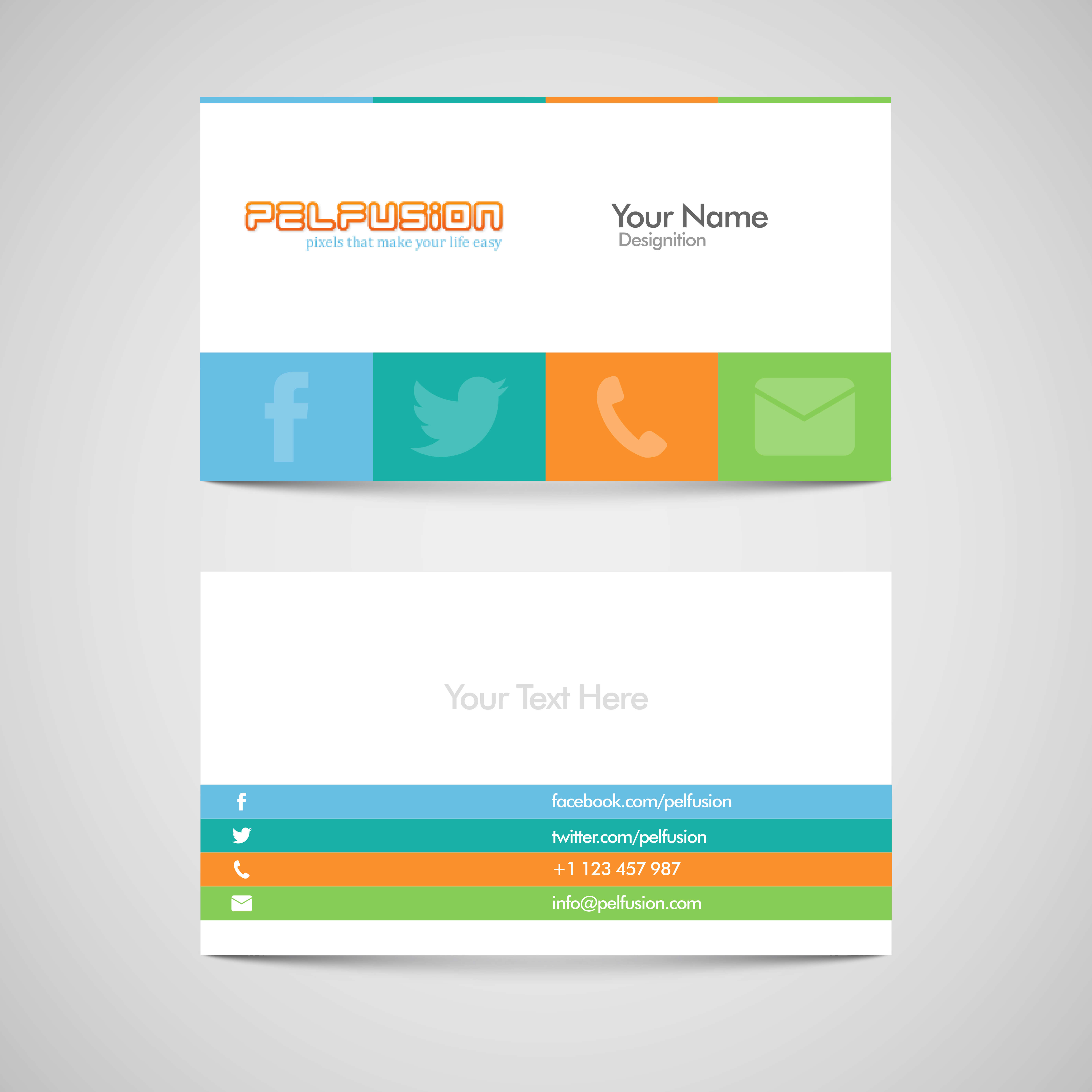 83 Free High Quality Business Card Templates – Pelfusion Pertaining To Free Personal Business Card Templates