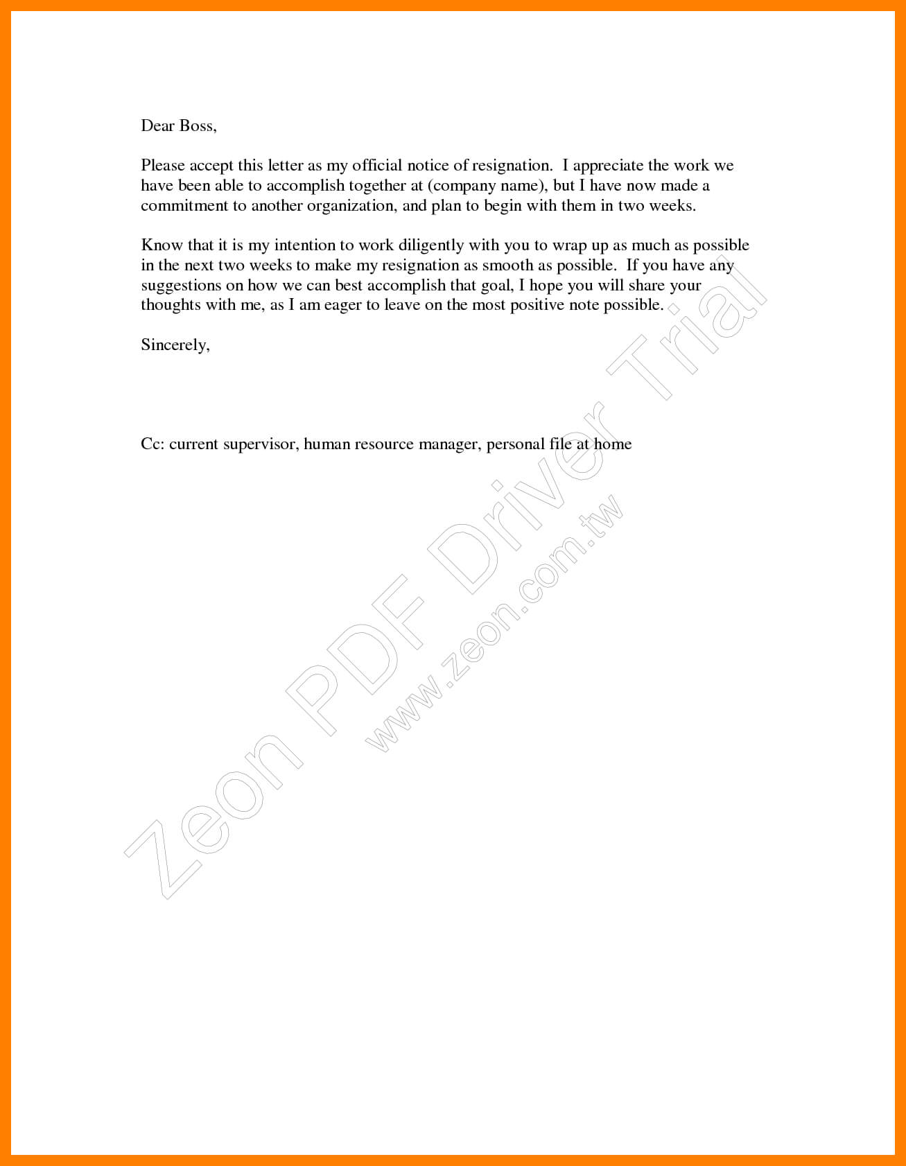 9+ 2 Weeks Notice Template Word   Time Table Chart Throughout 2 Weeks Notice Template Word