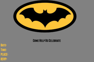 9 Awesome Batman Birthday Invitations | Kittybabylove throughout Batman Birthday Card Template