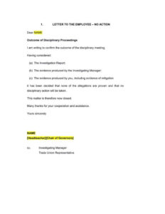 9+ Disciplinary Warning Letters – Free Samples, Examples regarding Investigation Report Template Disciplinary Hearing
