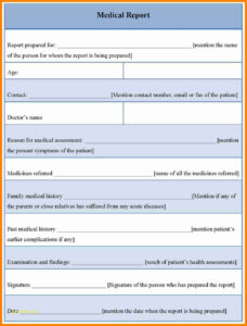9+ Doctor Report Template | This Is Charlietrotter Regarding Medical Report Template Free Downloads