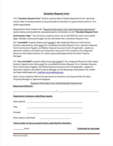 9+ Donation Application Form Templates Free Pdf Format inside Donation Report Template