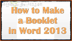 9+ Free Booklet Templates For Microsoft Word | Andrew Gunsberg with regard to How To Create A Book Template In Word