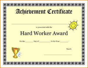 9+ Good Job Certificate Template | Quick Askips inside Good Job Certificate Template