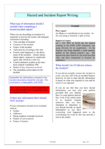 9+ Incident Report Writing Examples – Pdf | Examples pertaining to Ohs Monthly Report Template