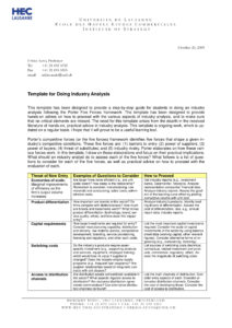 9+ Industry Analysis Examples - Pdf   Examples in Industry Analysis Report Template